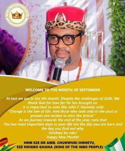 Ezeigbo Ghana – HRM Dr. Chukwudi Jude Ihenetu Eze-ohazurume 1:(4)