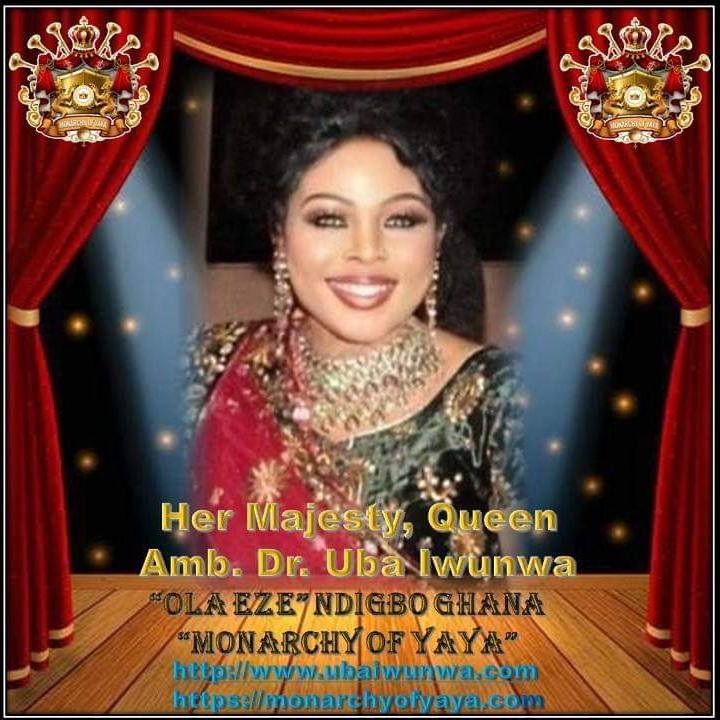 Her Majesty, Queen Amb. Dr. Uba Iwunwa is a  humanitarian activist